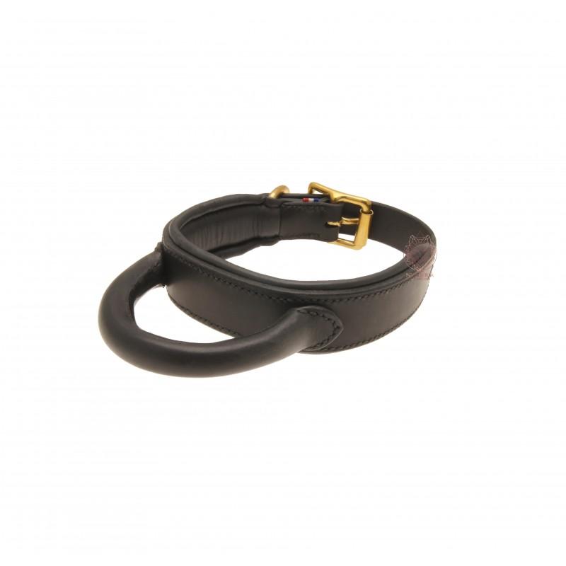 Collier de travail SM Dolce Hybris - NYMAERIA - Collier avec poignée en cuir français doublé réalisé à la main