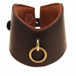 Collier Nephtys - NYMAERIA - Collier sm en cuir français de premier choix réalisé à la main. Bouclerie laiton.