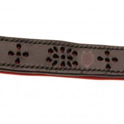 Collier SM Amapola - NYMAERIA - pièce unique bdsm haut de gamme en cuir  français réalisée à la main.